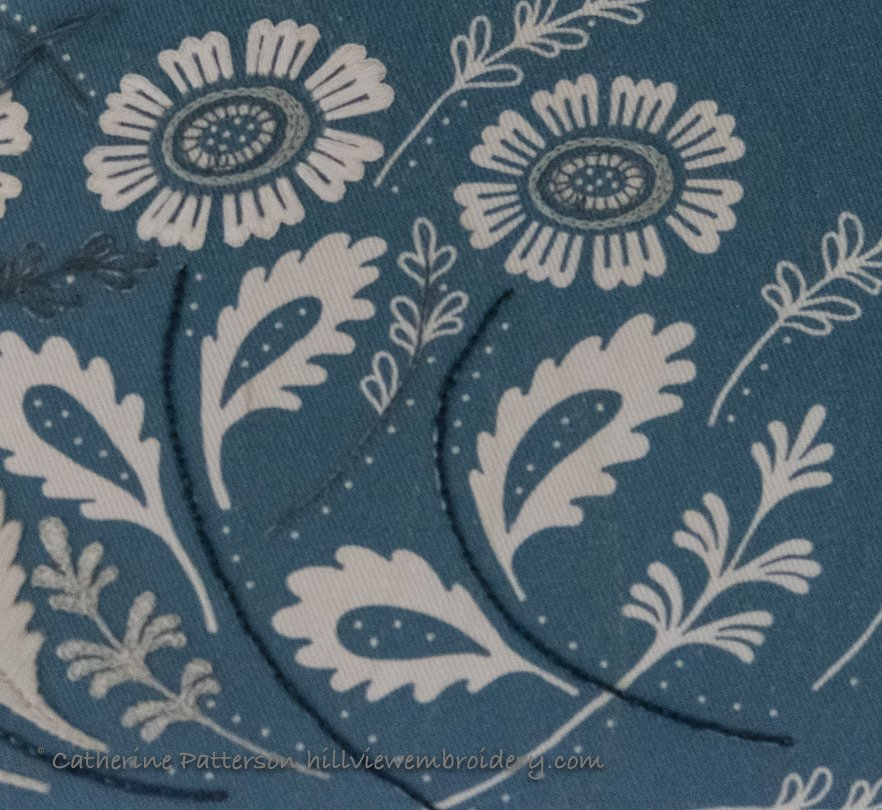 Progress on Annes orchard clutch, with a little bit of progress on the flowers!