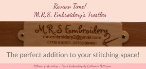 the perfect addition to your stitching space - a set of MRS embroidery trestles! Read my full review at hillviewembroidery.com now!