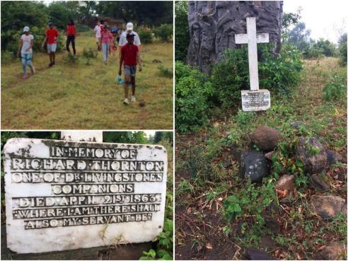 Visiting Richard Thornton's grave