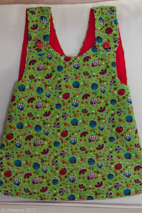 Needlecord crossover pinafore