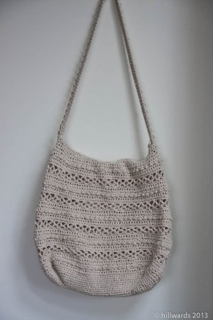 Cotton crochet bag, fully lined