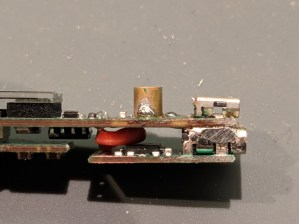 Filed excess solder from sides so it fits
