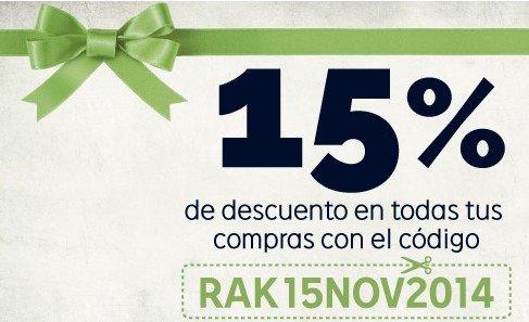 Megachollo 15 % de descuento adicional en Rakuten