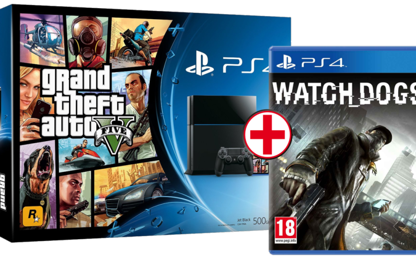 Chollo PS4 Pack GTA V + Watch Dogs +  PS4  399 €