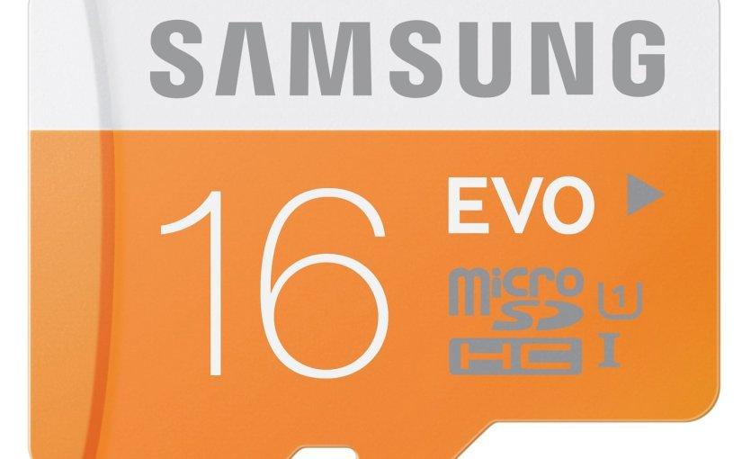 Y otro chollazo! Tarjeta Micro SDHC de Samsung EVO de 16GB por 6,18 €