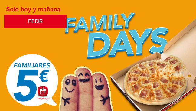 Atentos! sólo hoy y mañana Telepizza FamilyDays – Familiares a 5 €