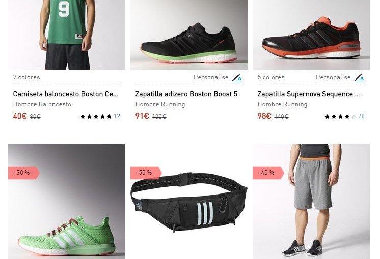 Rebajas de hasta el 50 % en Adidas