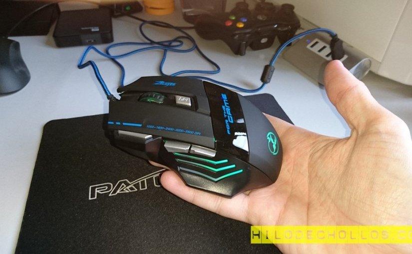 Video review ratón gamer con luces LED barato