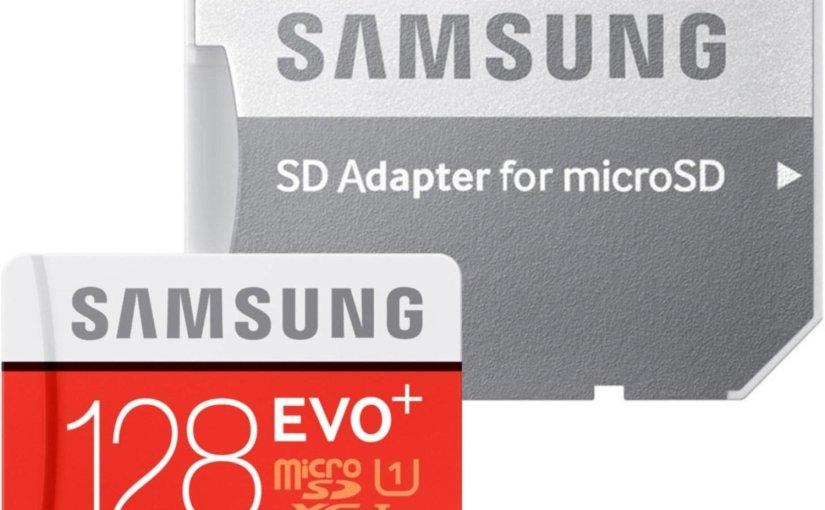 Chollazo tarjeta micro SD 128 Gb por 33,54 €