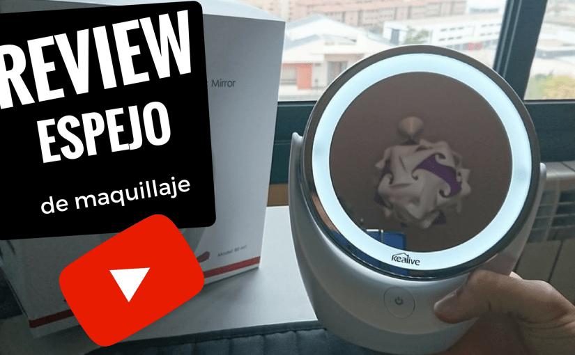 Chollo review Kealive Espejo de Maquillaje Iluminado de aumento 5x / 1x