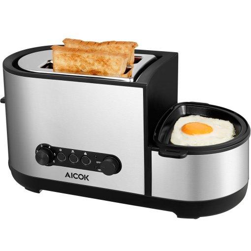 Cupón descuento para una tostadora que hace huevos fritos a la vez!
