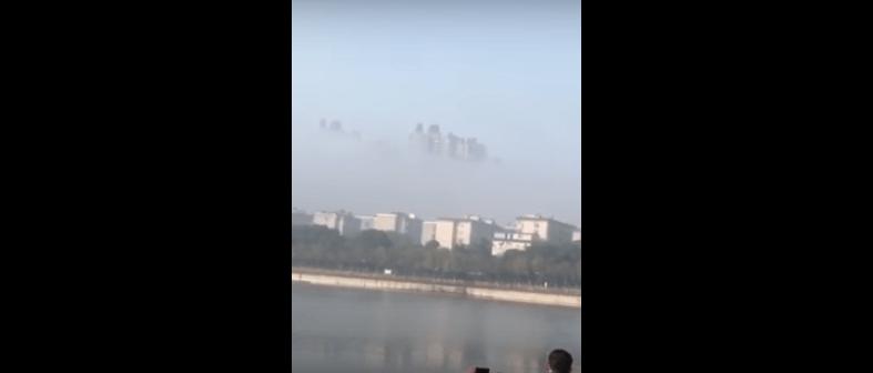 Misteriosos rascacielos aparecen en las nubes en China (VIDEO)