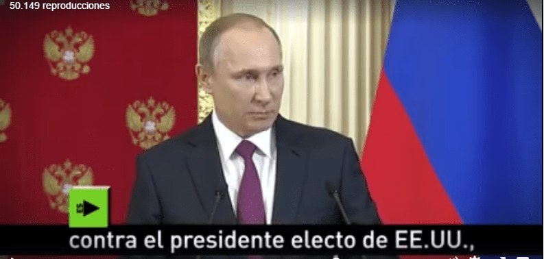 Putin culpa a Obama de buscar deslegitimar a Trump (VIDEO)