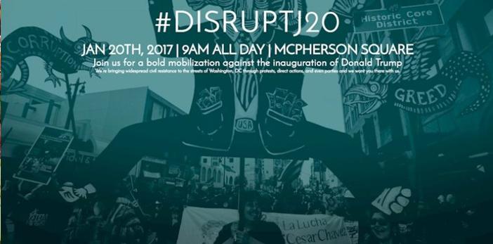 #DISRUPTJ20, el plan para boicotear la toma de posesión de Trump