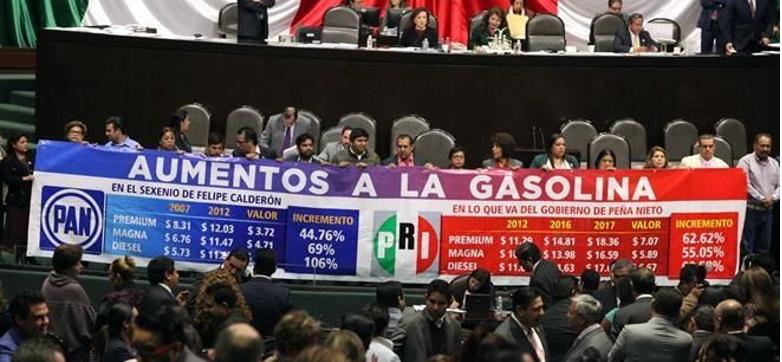 Rechaza el PRI propuesta ciudadana de eliminar el gasolinazo