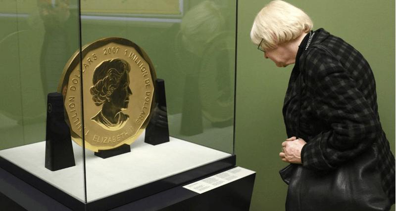 Roban la mayor moneda de oro del mundo: vale 1 millón de dólares