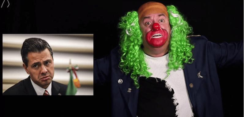 """""""¿Vas a denunciarme?"""", cuestiona Brozo al presidente Peña (VIDEO)"""