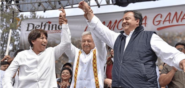 """La """"guerra sucia"""" contra Delfina viene de Los Pinos: AMLO"""