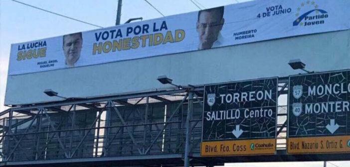Indigna en Coahuila llamado de Moreira a votar por la honestidad