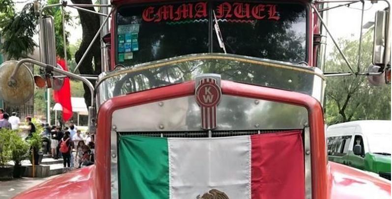 Roban tráiler con víveres para damnificados en Puebla