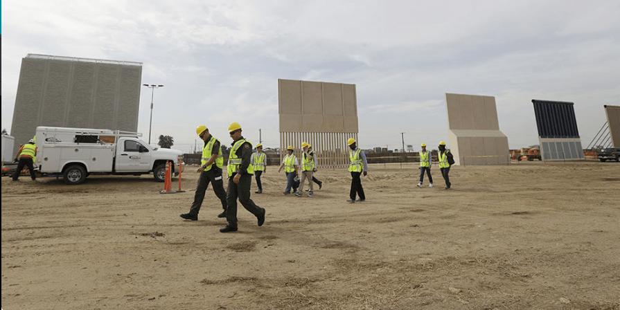 Exhiben 4 prototipos del muro de Trump