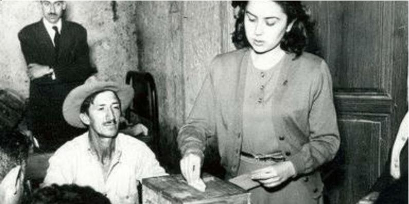 La feministas dieron el voto a las mujeres hace 64 años