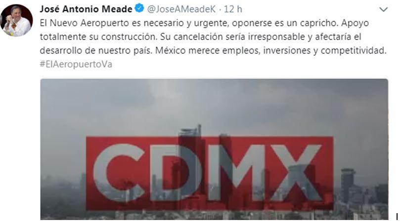 Meade usa VIDEOS de la SCT para atacar a AMLO por el aeropuerto