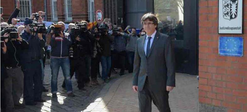 Alemania pone en libertad a Puigdemont
