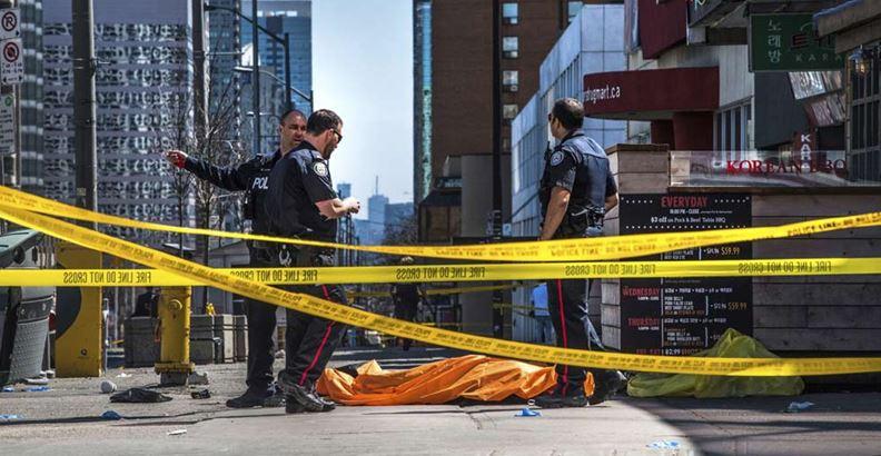 Atropello masivo en Toronto: 10 muertos y 15 heridos
