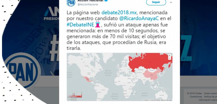 """VERIFICADO: No hubo un """"ataque ruso"""" al sitio de Anaya"""