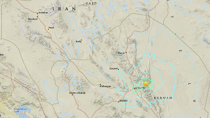 Sismo de 5.8 estremece a Irán