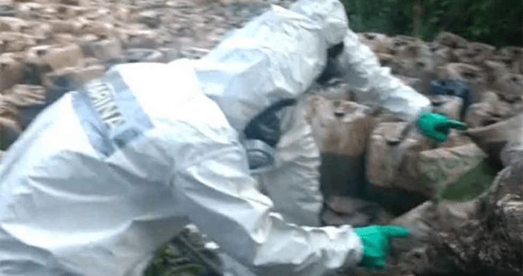 """Descubren entierro de 50 toneladas de cristal de """"El Mayo"""" (VIDEO)"""