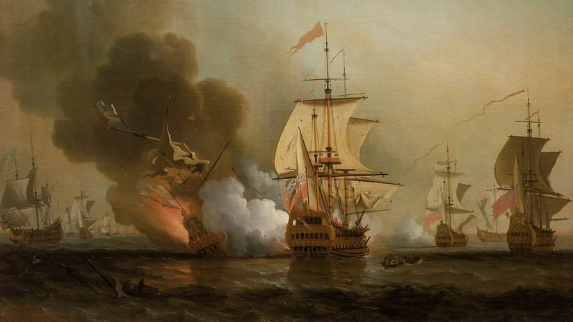 ¿De quién es el tesoro del galeón hundido frente a las costas de Colombia en 1708?