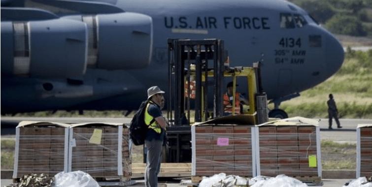 "Usa EU aviones militares para ""ayuda humanitaria"" a Venezuela"
