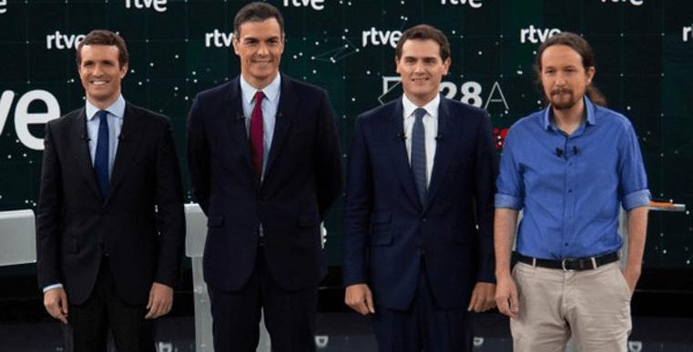Debaten en España: 100 minutos de toma y daca