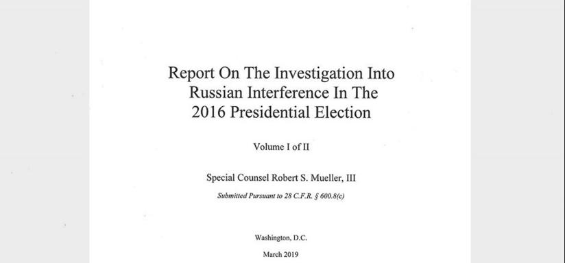 Hacen público informe de Mueller sobre supuesta trama rusa