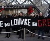 Huelguistas bloquean acceso al Museo del Louvre
