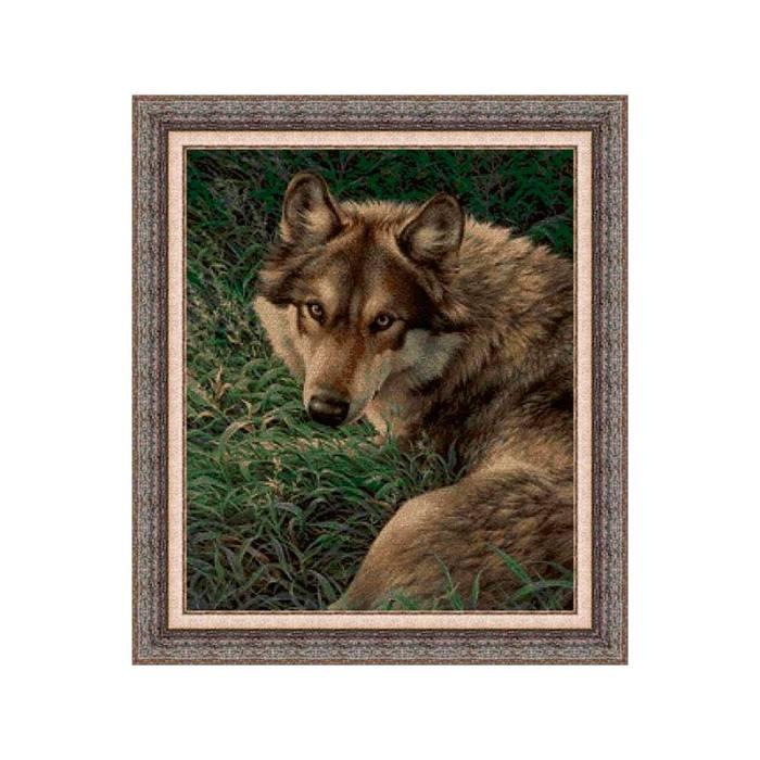 Kits de punto de cruz de animales: lobo gris