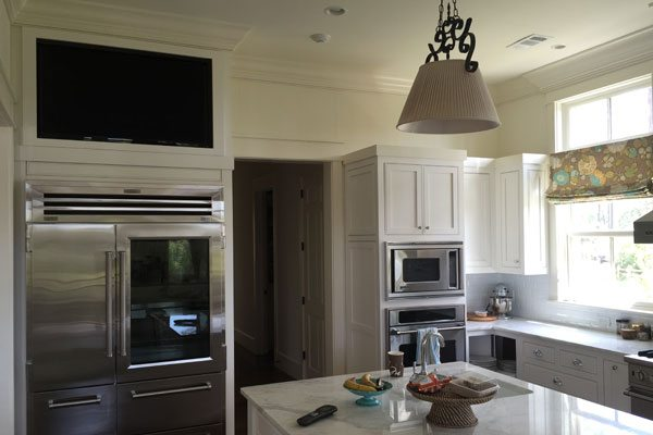 BuiltIn Kitchen Cabinet TV