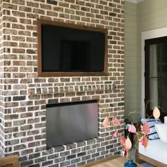 Recessed Kitchen Lighting L Shaped Table Tv On Brick Wall