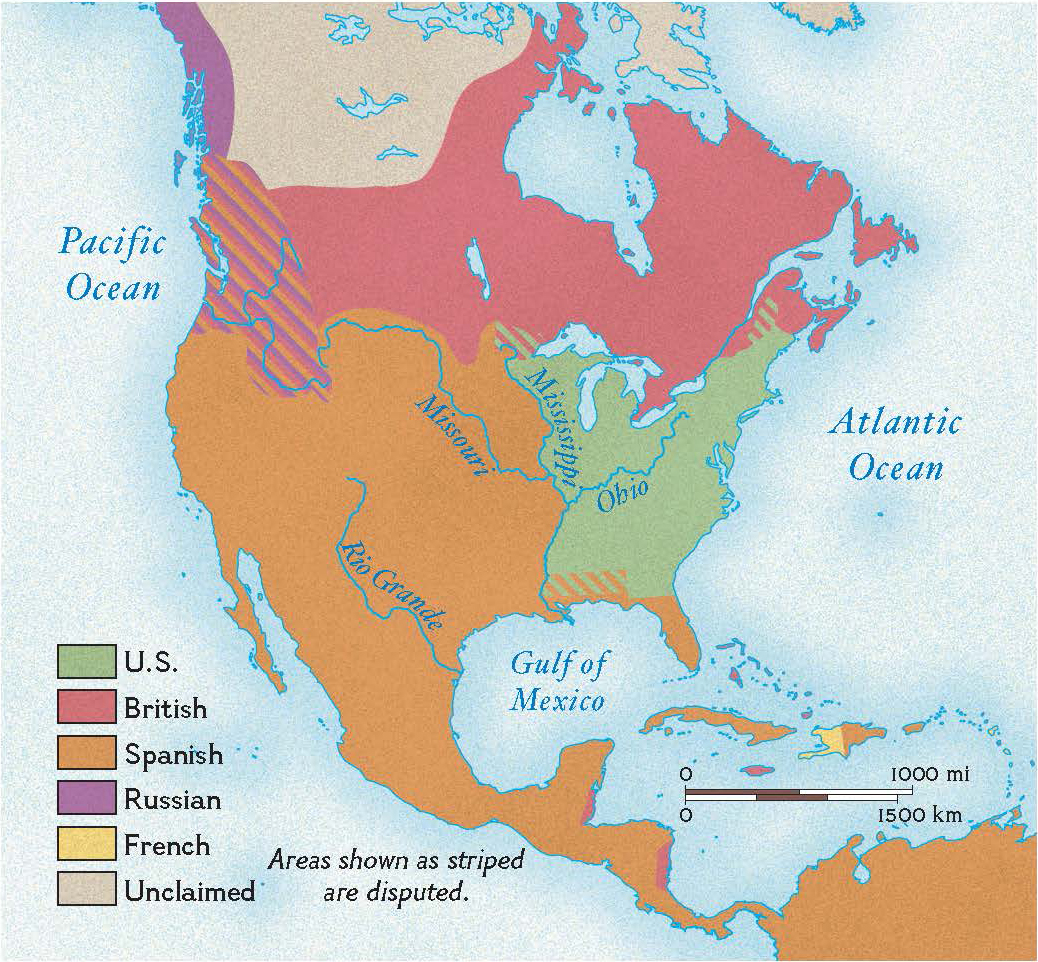 North America After The Treaty Of Paris Map