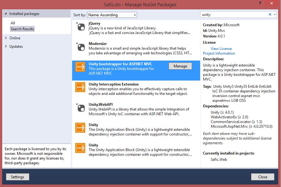Sitecore MVC and Unity (1/2)