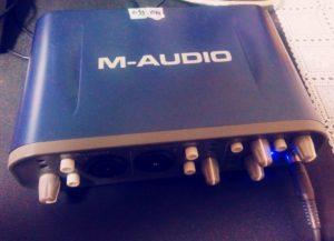 M-AUDIO FAST TRACK PRO オーディオインターフェース 宅録 レコーディング ファンタム電源 AIF