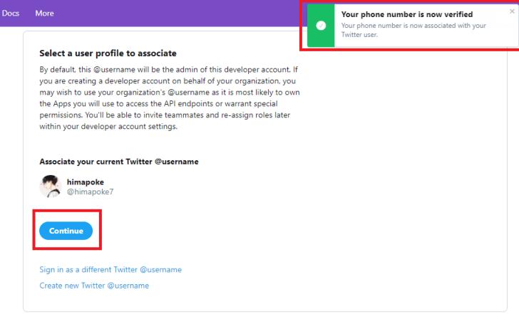 twitter-developer-account-verify-phone-number