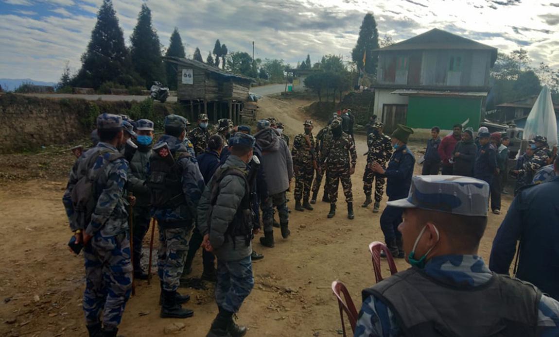 स्थानीयको प्रतिकारपछि नेपाली भूमिबाट पछि हट्यो भारतीय सुरक्षा बल