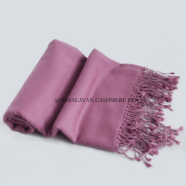 Cashmere Pashmina Silk Blend Midnight Lavender Shawl Wrap