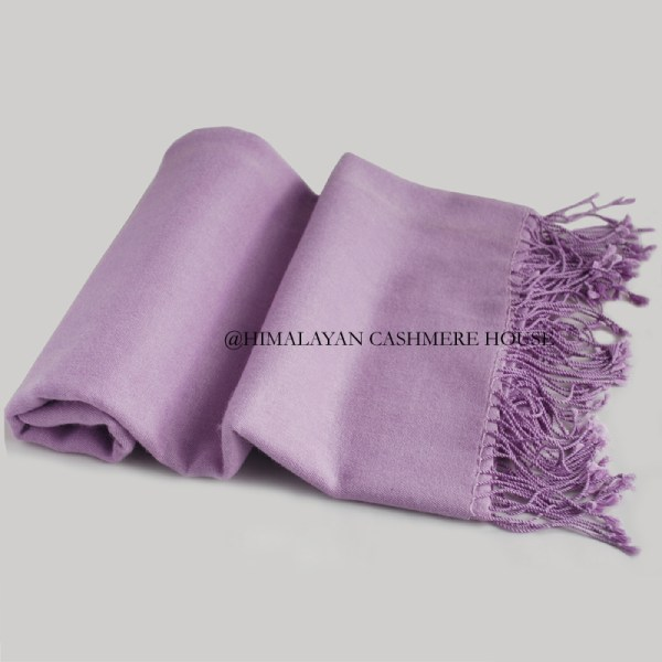 Cashmere Pashmina Silk Blend Light Lavender Shawl Wrap