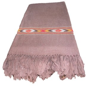 Kullu Cashmilon Women Shawl-Brown Color with Embroidery