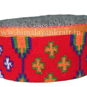 Himachal Hat (Cap)-Be a Pahari -Grey with Beautiful Patti-HimalayanKraft