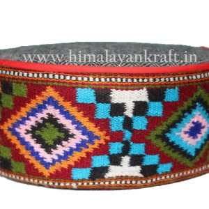 Himachal Cap (Topi)-Be a Pahari -Grey with Beautiful Patti-HimalayanKraft (Copy)